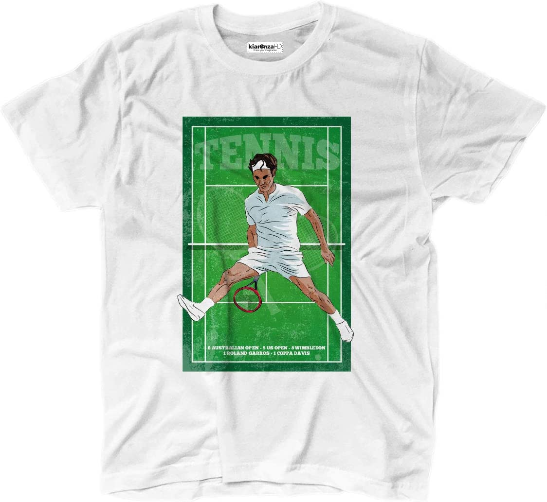 KiarenzaFD Camiseta Camiseta Tenis Vintage Roger Federer Grunge ...