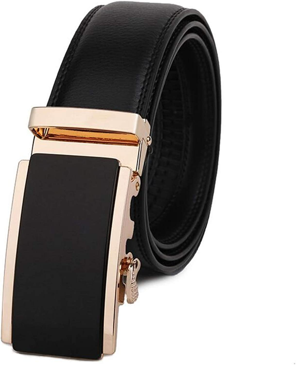 Leather Belt Men Genuine Leather Hard-Wearing Belts Business Casual Waist Automatic Gold Buckle Male Strap