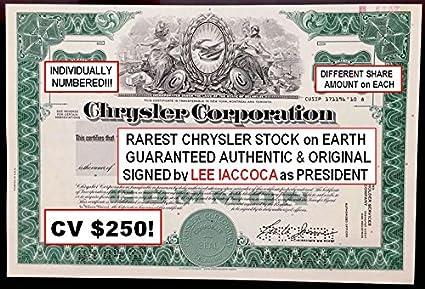 Hood Ornament Vignette Chrysler Corporation Bond Certificate