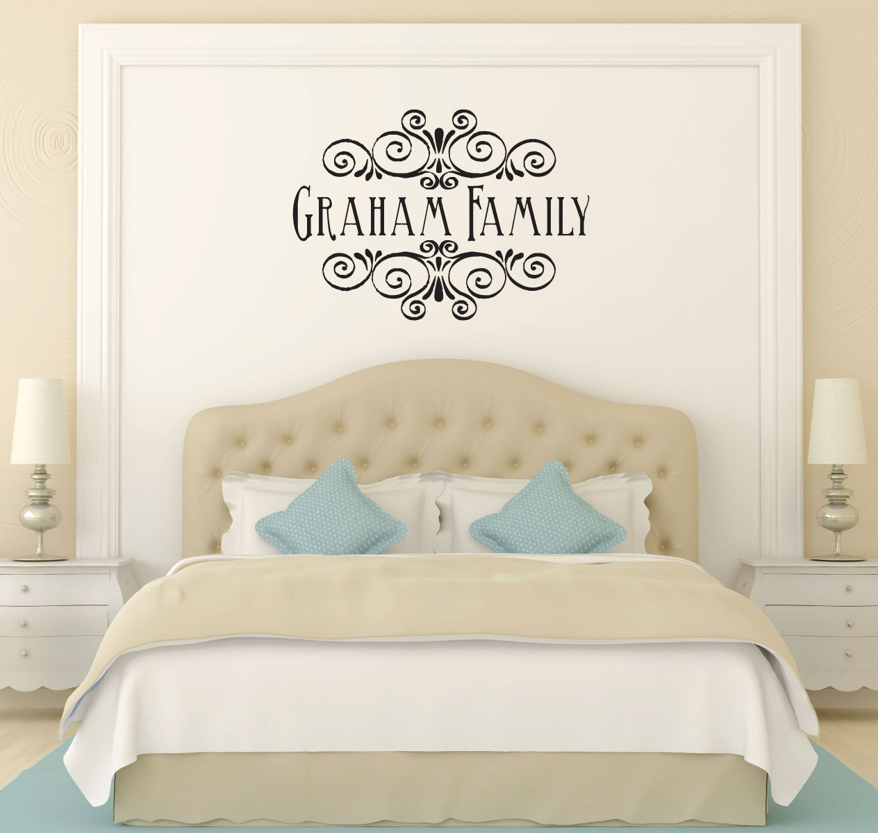 Family Name Decal - Personalized Vinyl Wall Sticker Design for Living Room, Bedroom, Kitchen - Home Decor