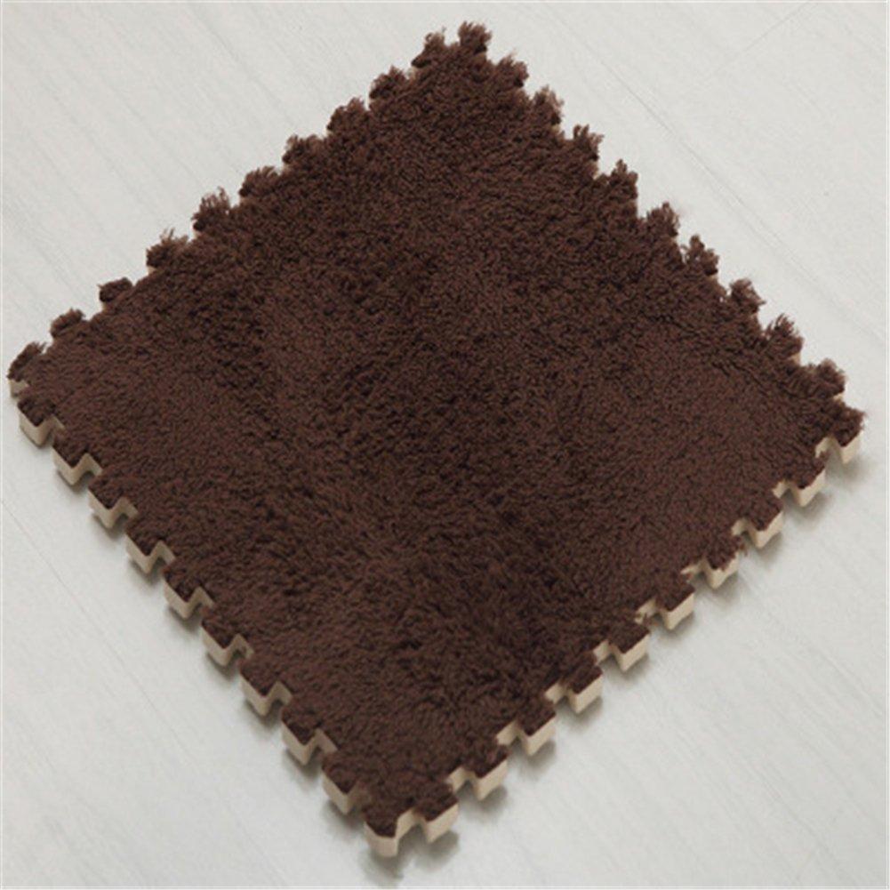 Hoxekle Puzzle Carpet Play Mat Floor Puzzle Mat EVA Children Foam Carpet Mosaic Floor Suede Exercise Yoga Playroom Mat, pack of 10