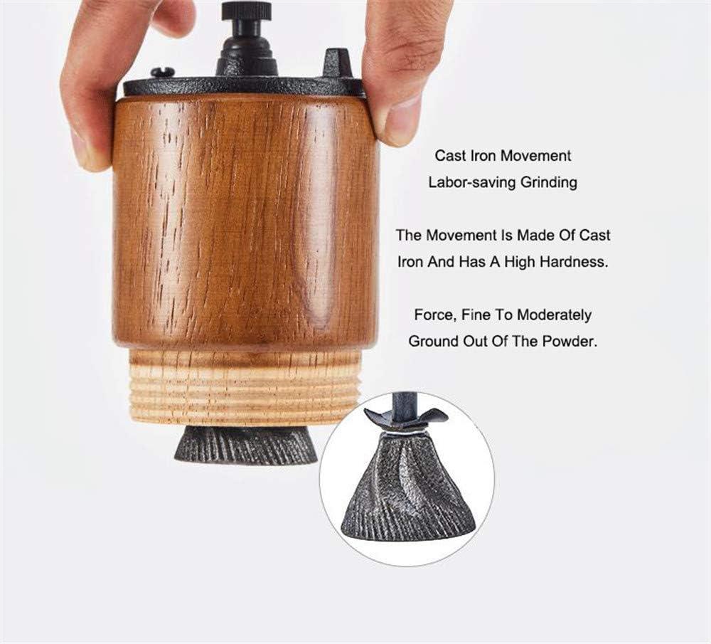 Fumao Manuelle Kaffeem/ühle aus Holz mit Gusseisenfr/äser f/ür Reisen und Camping helles holz Handkurbel tragbar gro/ße Kapazit/ät