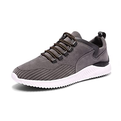 1c3f9dc383 Chaussure pour Courir Homme Fitness Sport et Léger Suede Sneakers 39 ...