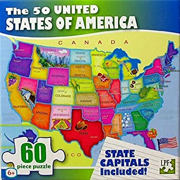 Amazoncom MasterPieces Explorer Kids USA Map Piece Kids - Us map jigsaw puzzle