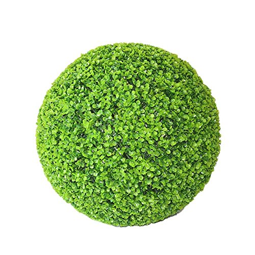 cheerfullus 2PCS Artificial Topiary Ball Leaf Effect Green Grass Ball Plant Topiary Hanging Garland Garden Decoration