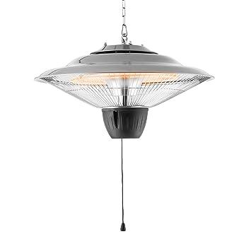 Duramaxx Hitzkopf - Radiador de infrarrojos. Calefactor de techo (45 cm de diámetro,