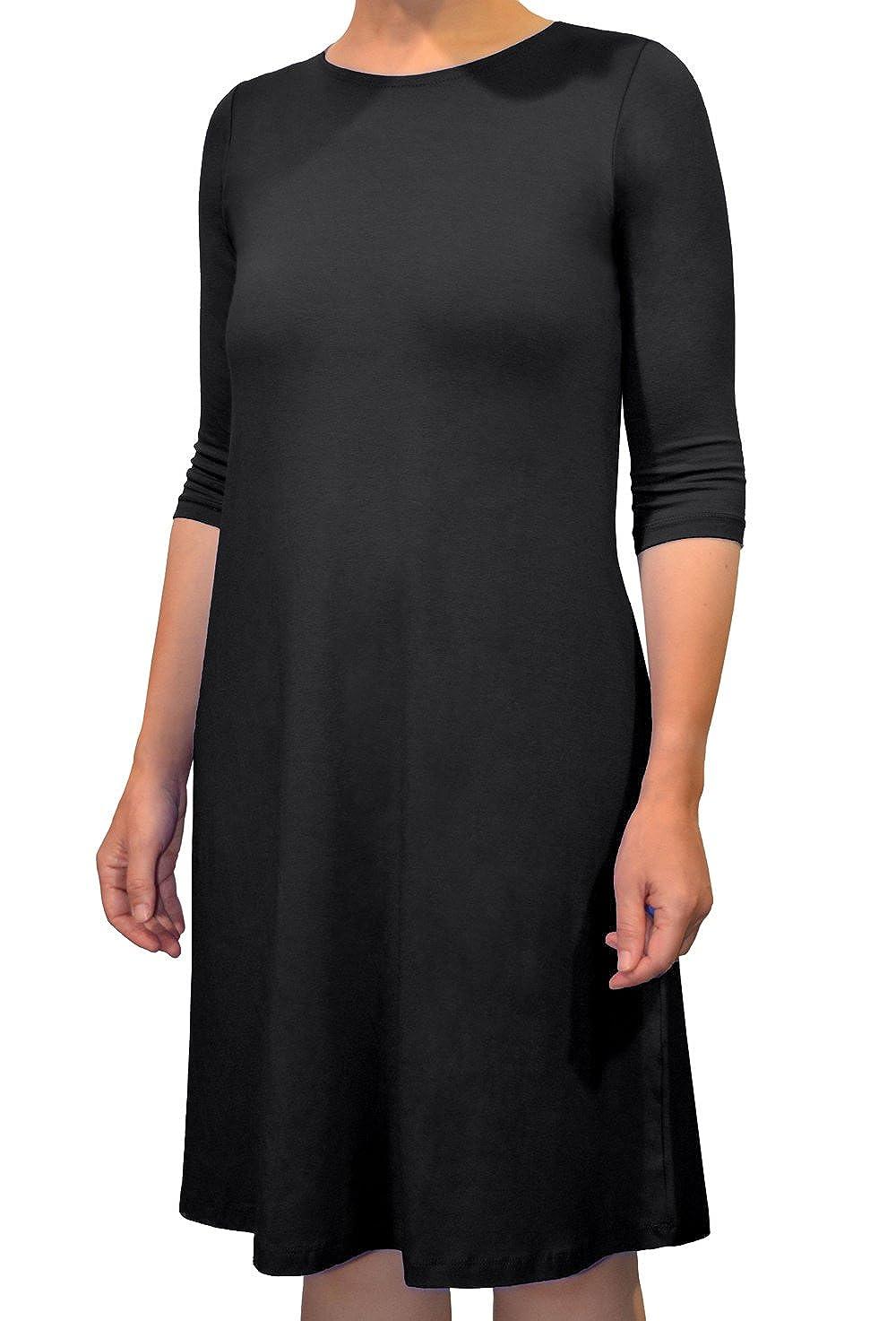 Kosher Casual Womens Modest Knee Length Lightweight T Shirt Dress