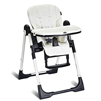 Enjoyable Infans High Chair For Babies Toddlers Foldable Highchair With Multiple Adjustable Backrest Footrest And Seat Height Removable Tray Detachable Pu Spiritservingveterans Wood Chair Design Ideas Spiritservingveteransorg