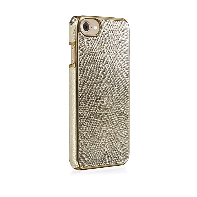 hot sale online 2f0d9 f355b iPhone 7 Case - Pipetto Magnetic Snap Case Ultra Thin Premium Leather Cover  - Lightweight Slim Hard Shell (Compatible with iPhone 6/6S/7/8) - Gold ...