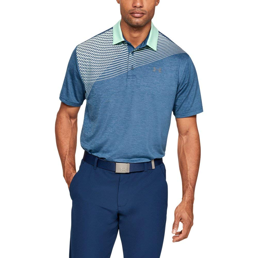 Under Armour Men's Playoff Golf Polo 2.0, Petrol Blue/Pitch Gray, Medium by Under Armour