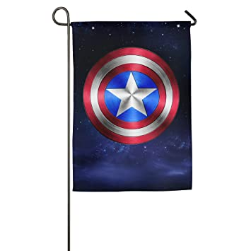 Amazoncom Captain America Marvel Comics House Flags Garden Flag