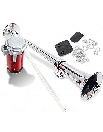 Zone Tech 12V Single Trumpet Air Horn - Premium Quality Single Trumpet Air Horn Chrome +