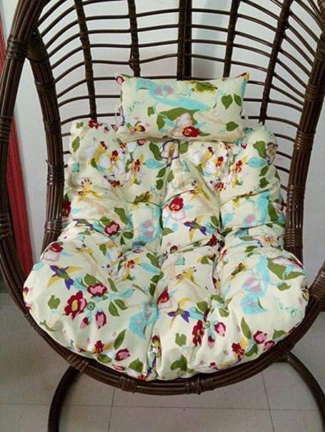 D&LE Espesar Swing Cojines para sillas Solo Movible Limpieza Nido de pájaro Cesta Colgante Cojines para sillas Patio Jardín Silla de Mimbre Cojin de Asiento -R 90x100cm: Amazon.es: Hogar