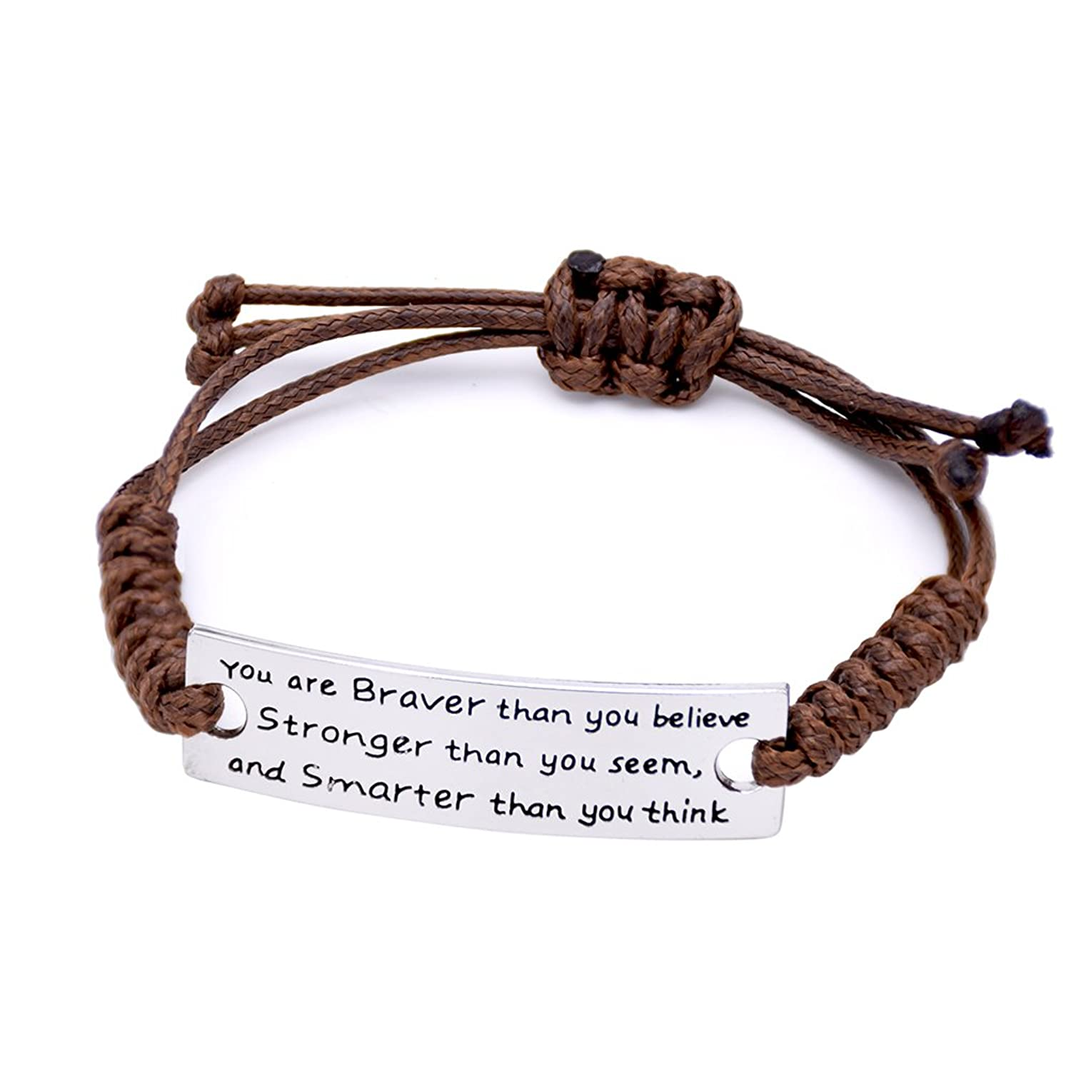 Oriya You Are Braver Than You Believe Charming Little Inspirational  Bracelet