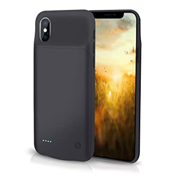 HiKiNS Funda Batería para iPhone XR 4000mAh Externa Ultra ...