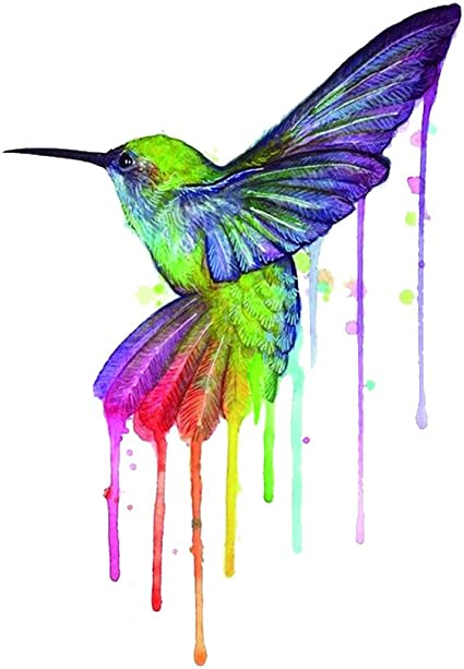 wyuen 12 pcs colibrí temporal tatuaje Pegatina para las mujeres ...