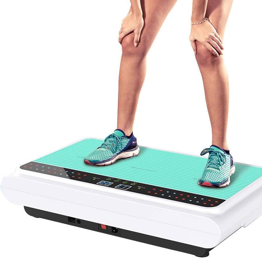 振動パワープレート - ジムマシンフィットネス振動機 - ブルートゥーススピーカーユニセックス全身揺れ 減量とボディートーニングのために