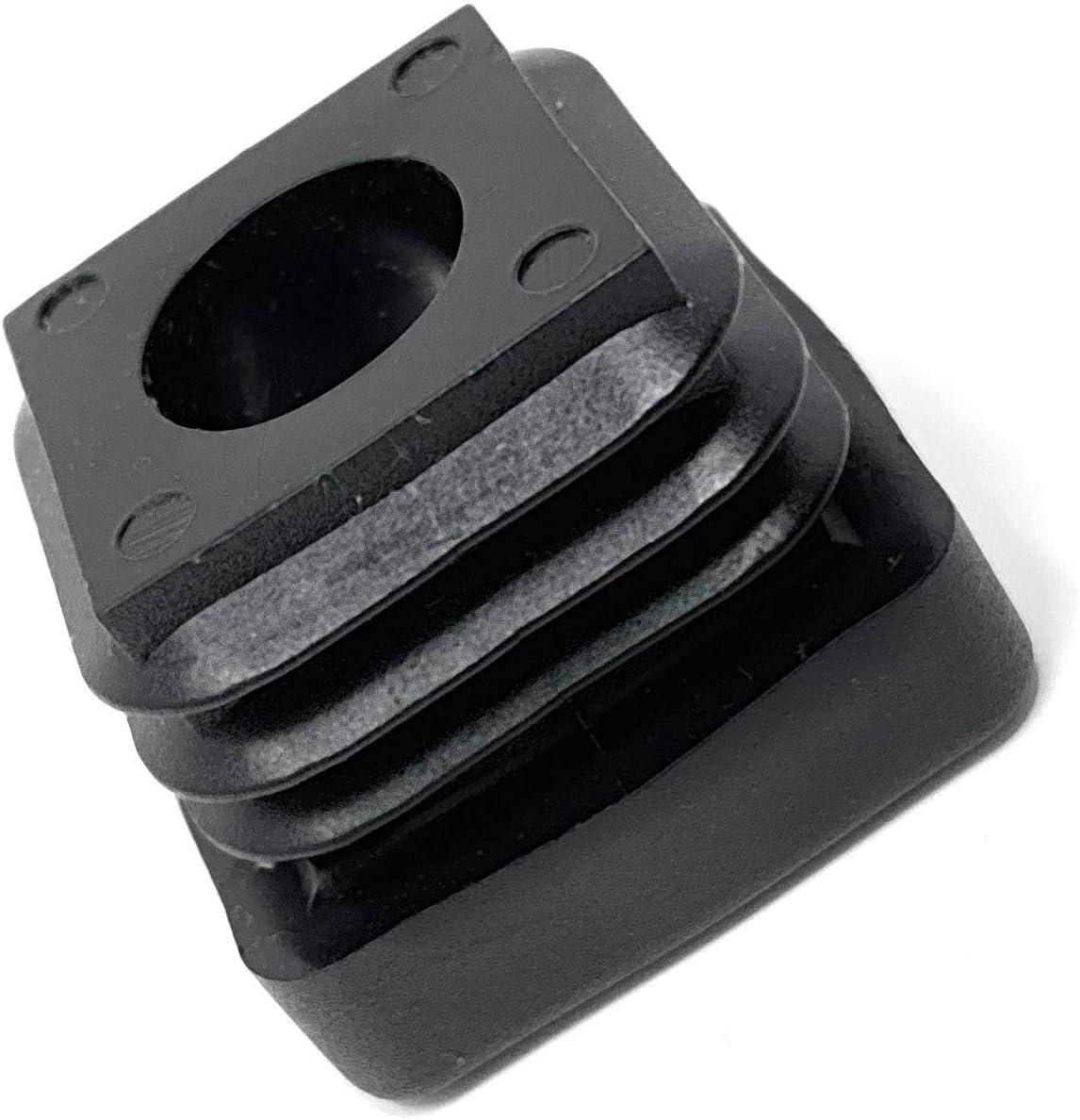 Design61 Gewindestopfen Vierkantrohrstopfen 30x30 mm 2,0 mm mit M10 Innengewinde