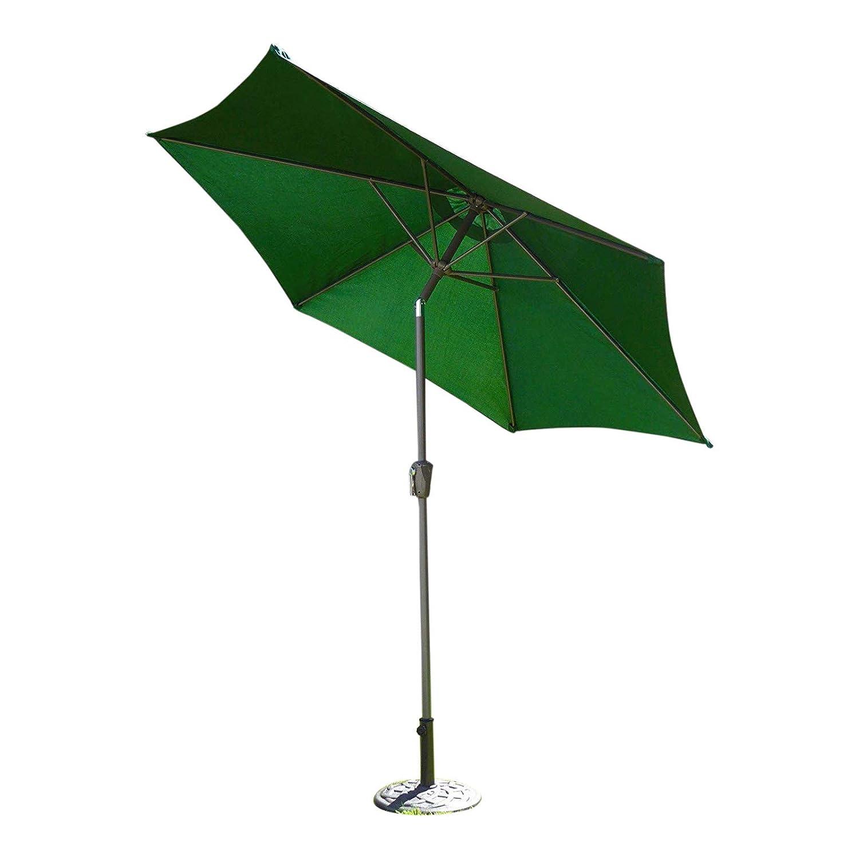 Large 2m, 2.7m or 3m Metal Crank And Tilt Garden Parasol Umbrella - 10 Colours 3 Sizes (2m, Black) UK-Gardens