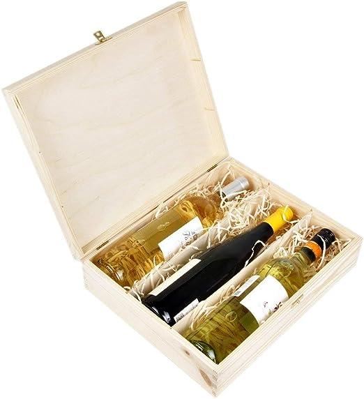 Amazinggirl Cajas de Madera para vinos - Estuches Vino Caja Madera ...