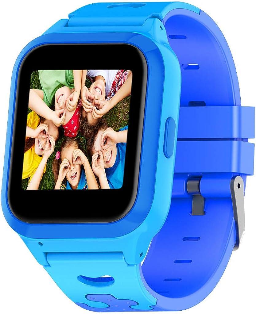 Reloj GPS Tracker Impermeable para Niños - Smartwatch Resistentes al Agua Teléfono con Localizador GPS LBS Juegos de Chat de Voz Cámara para Juegos de Regreso a la Escuela Regalo