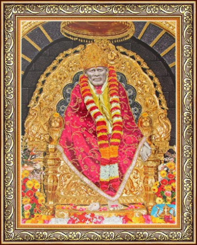 Avercart Shri Sai Baba / Shree Sai Baba / Shirdi Saibaba Poster with Photo
