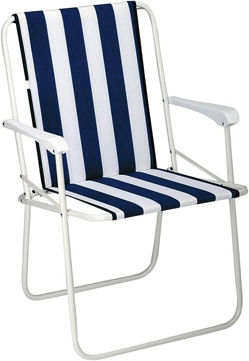 BEST 34216802 Silla de jardín - sillas de jardín (Salón, Asiento Acolchado, Respaldo Acolchado, 2 cm) Azul, Color Blanco: Amazon.es: Jardín