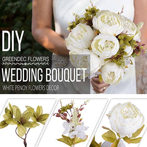 Review Artificial Peony Wedding Flower