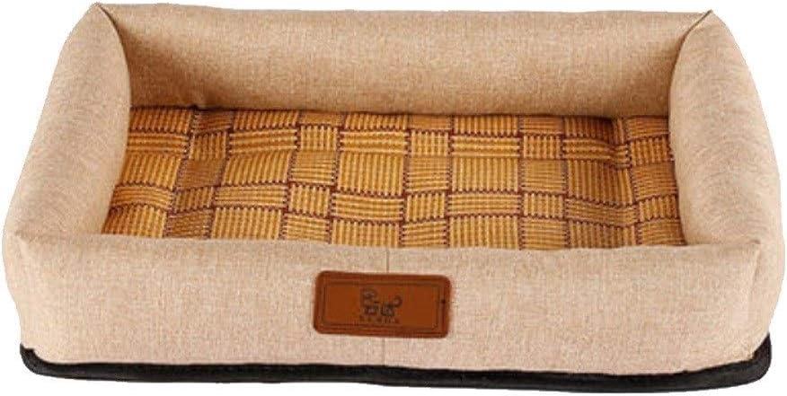 HZHIYU01 犬小屋、中小犬はマットスリーピング大型犬をベッド、ソファ犬/犬マット/フォーシーズンズユニバーサルペット用品。(3つの)出荷までの時間 (Color : Beige, Size : L)
