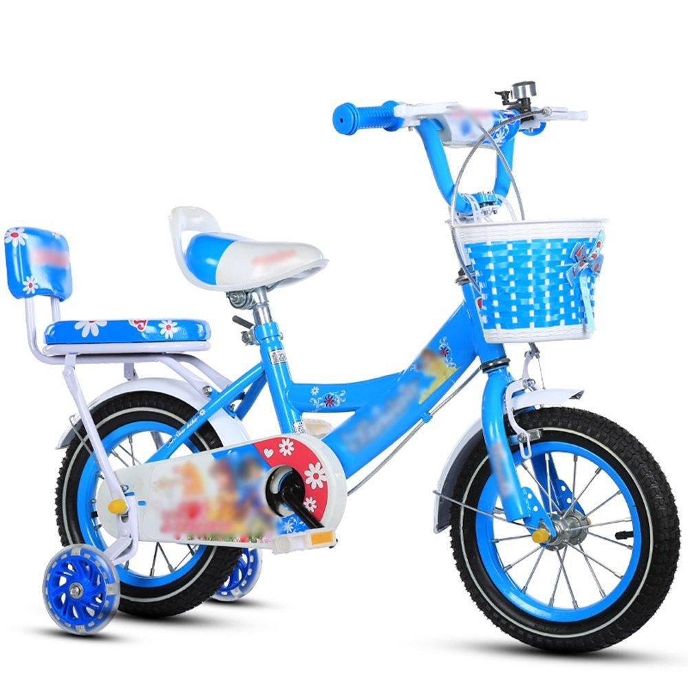 FEIFEI キッズバイク、サイズ12インチ、14インチ、16インチ、18インチピンク、ブルー、パープルセーフ、セキュア (色 : 青, サイズ さいず : 18 inch) B07CXKDMFY 18 inch|青 青 18 inch