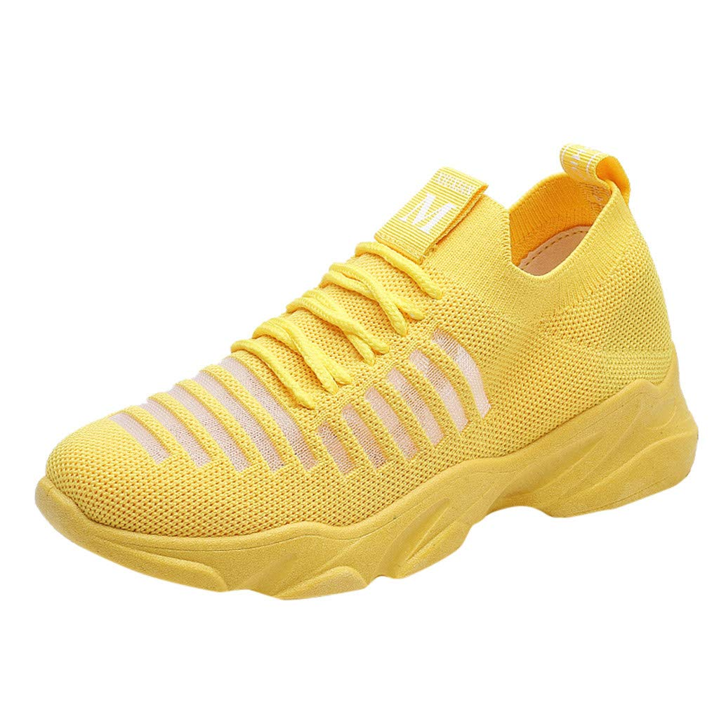 Women's Mesh Slip On Breathable Sneakers, NDGDA Ladies Fashion Lightweight Sport Running Athletic Walking Knit Tennis Shoes