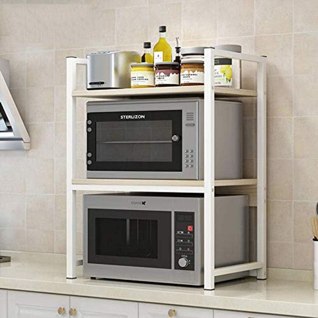 YXLYLL Divisor de Estante Cocina, microondas Horno Rejilla Soporte de Almacenamiento Estante de Esquina de Cocina, Estante de Horno de encimera-Asection2