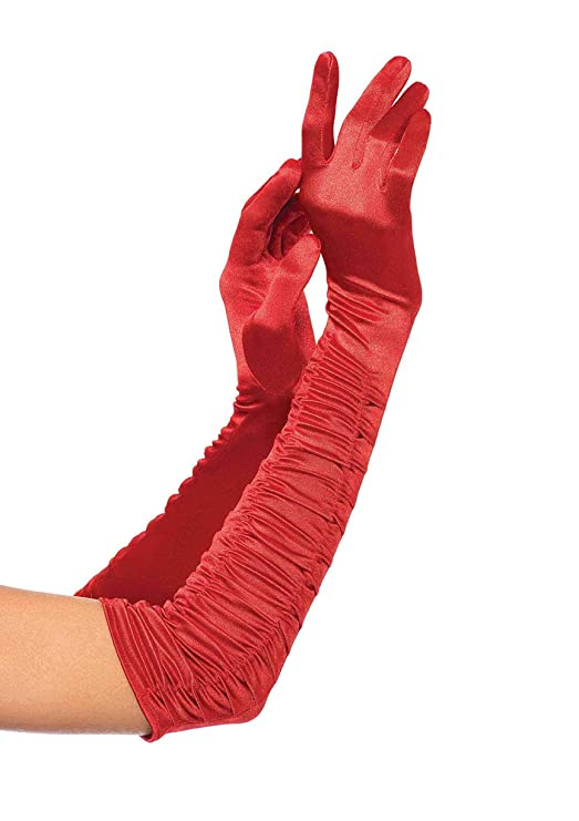 Vintage Style Gloves- Long, Wrist, Evening, Day, Leather, Lace Leg Avenue Womens Velvet Opera Length Gloves $18.99 AT vintagedancer.com