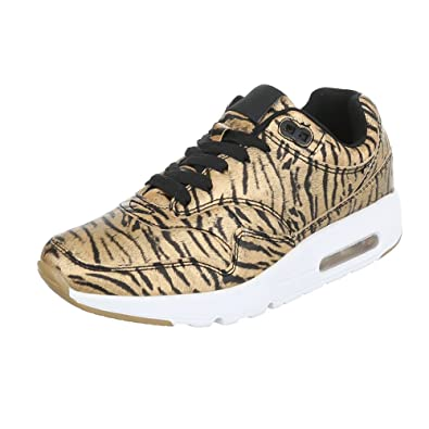 2e8fbe0d6a0161 Ital-Design Low-Top Sneaker Damen-Schuhe Low-Top Sneakers Schnürsenkel  Freizeitschuhe