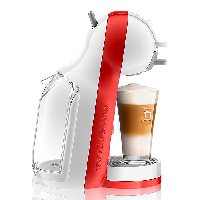 DeLonghi Dolce Gusto Mini Me EDG305.WR - Cafetera de cápsulas, 15 bares de presión, color blanco y rojo