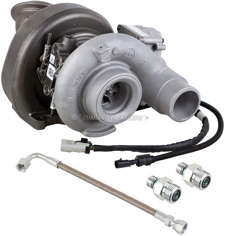 BuyAutoParts Turbo Kit W/OEM Holset Turbocharger Gaskets & Oil Line For Dodge Ram Cummins 6.7L 2007-2012