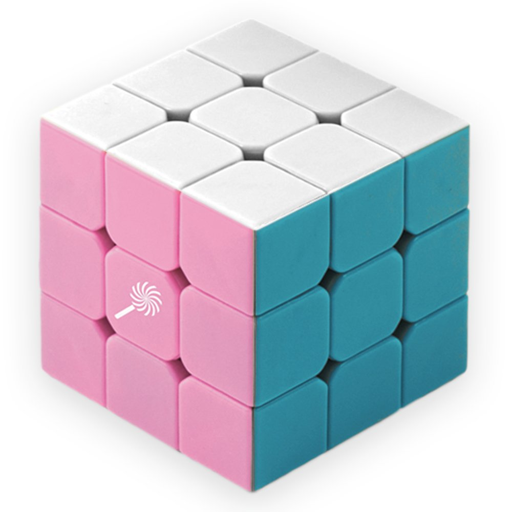 3 x 3 Stickerless Pastel Sweets Mod Puzzle Cube Engineered for Speed Solving - Improved Mold! - by Brybelly