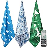 DAFUNNA Microfiber Beach Towel Quick Dry Travel Towel Large Size (60'x 30') Lightweight and Compact Sports Towel with Carry Bag