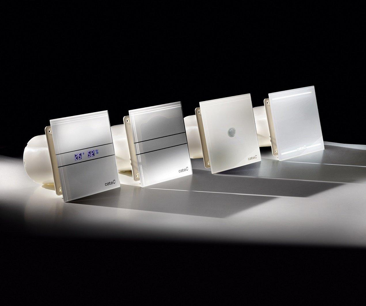 Ventilator / Lüfter / Badlüfter / CATA E 100 G / Standard / Glas /  Glasfront / Stark 115 M³/h / Sehr Leise 31 DB / Energiesparend 8 W /  Kugellager / EU ...