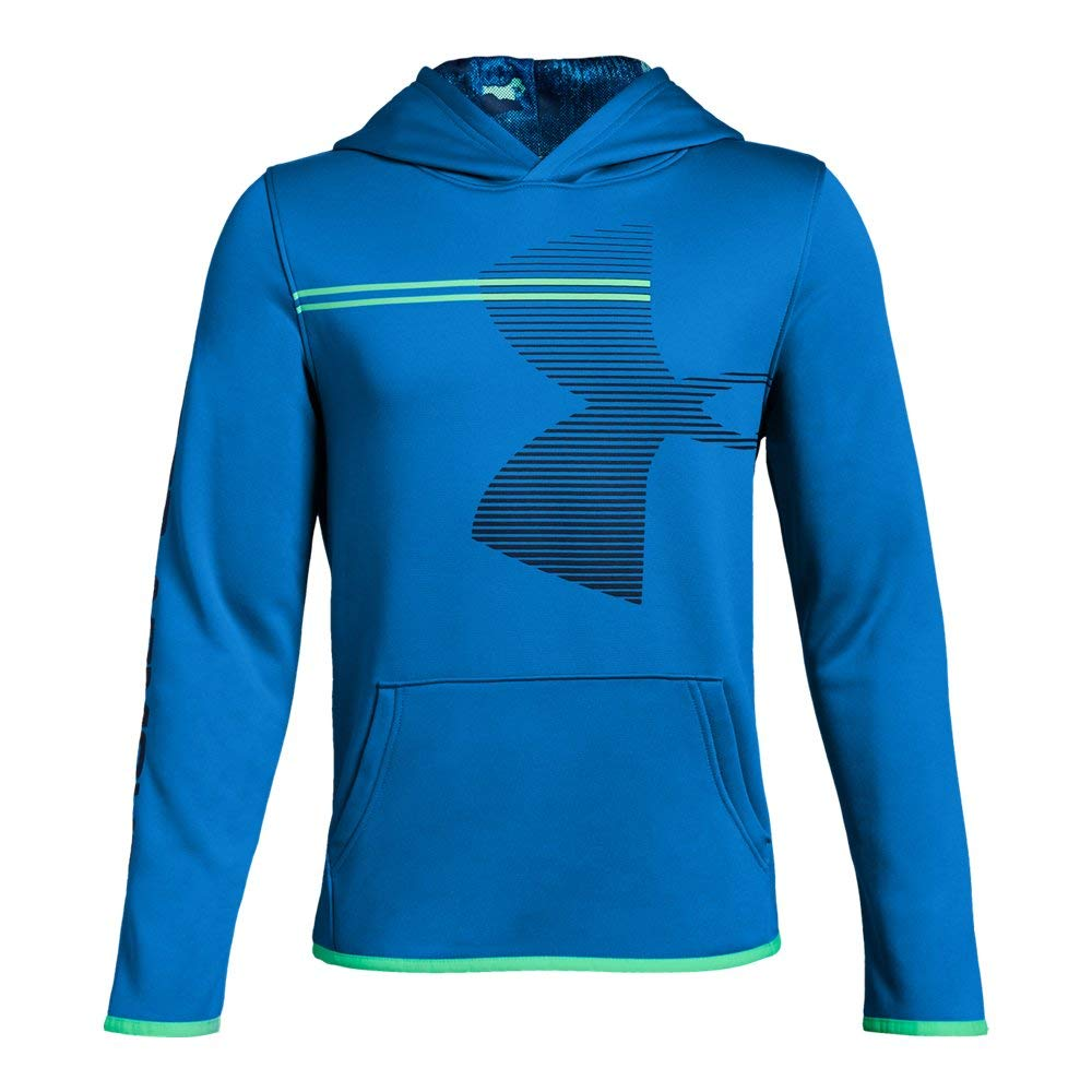 Under Armour Boys' Armour Fleece Hoodie, Blue Circuit (437)/Academy, Youth Small by Under Armour