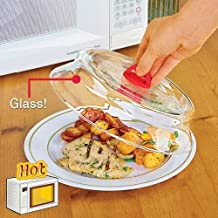 """Catamount CG1301-R Catamount Glass Microwave Plate Cover, 10.5"""", Red"""