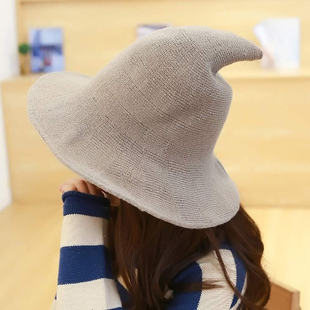 Halloween Fashion Dress Wizard Hat Steeple Wool Cap for Womens and Mens