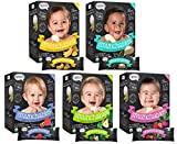 Baby : Nosh Baby Munchables Teethers Organic Rice Teething Wafers, 26 Piece, Variety Pack (Pack of 5)