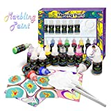 FUNTOK Kids Paint Kit, Arts and Crafts Painting Set Marbling Ink Paint Set Marbling Kit Craft Art Paint Set