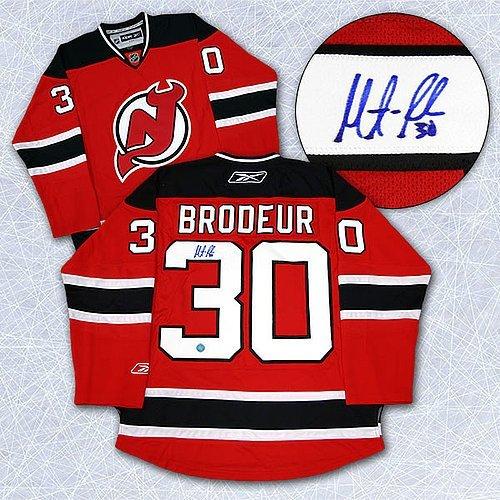 size 40 9ac02 7145e Autographed Martin Brodeur New Jersey Devils Reebok Premier ...