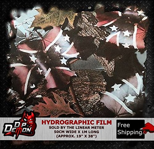 Lm Confed Camo Hydrographic Water Transfer Film Hydro Dipping Dip Demon