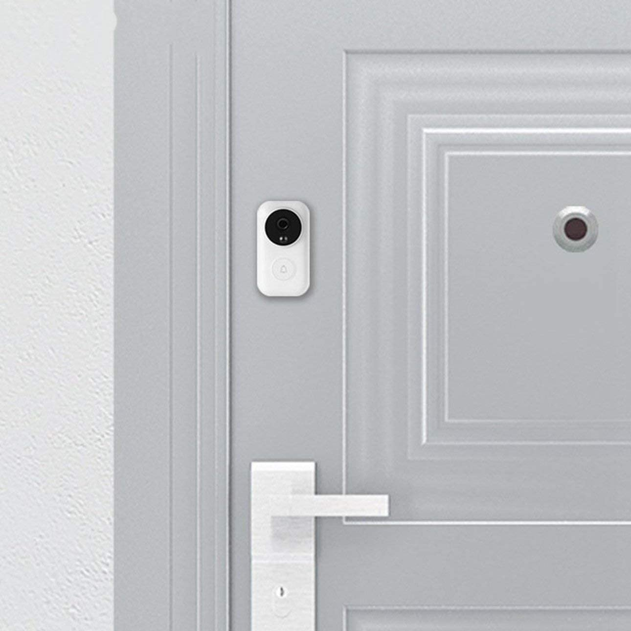 Ballylelly Pour Xiaomi Zero AI Identification De Visage 720P IR Vision Nocturne Vid/éo Sans Fil Wifi Sonnette Set D/étecteur De Mouvement Interphone R/écepteur