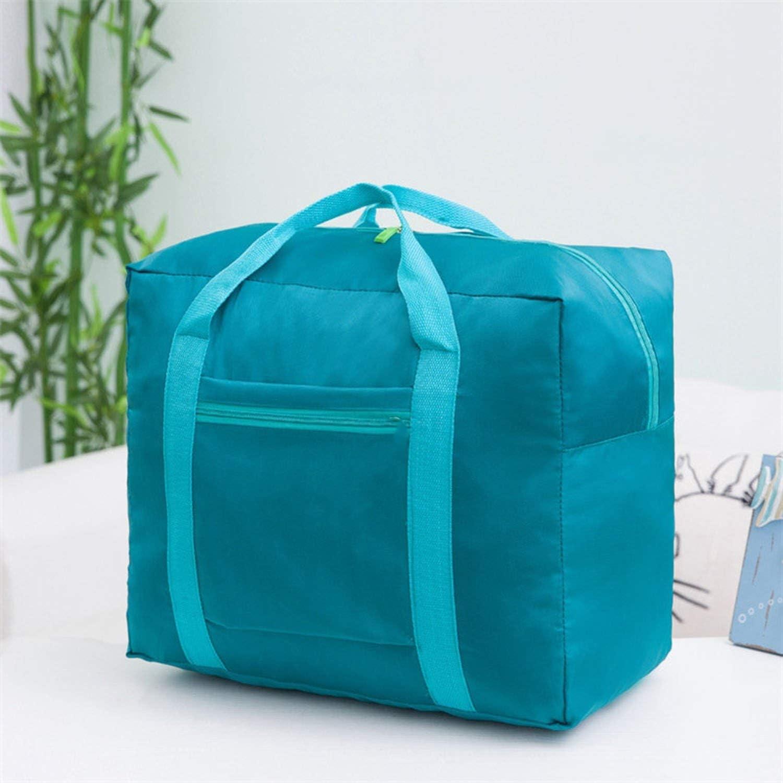 Women Travel Bagconvenient Folding Portable Travel Bag Nylon Waterproof Traveler Love Bag Large Capacity Hand Baggage Bag,Blue