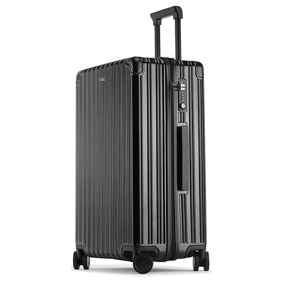 DS-トロリー トロリーケース - PC、TSA税関コードロック、内蔵レバー、スタイリッシュなジッパー万能ホイール大容量スーツケース - 2色、3サイズあり && (色 : 黒, サイズ さいず : 36*22*50cm) B07MXQX85H 黒 36*22*50cm