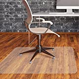 "Office Chair Mat Clear Plastic for Hardwood Floor Plastic Computer Chair mat PVC Plastic Mat Clear Oversized and Rolling Delivery, Protect Hard Flooring in Home and Office 36""x 48"" Rectangle"
